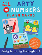 Arty Mouse NUMBERS Wipe Clean Flash Cards (includes a marker pen and a cloth)