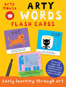 Arty Mouse WORDS Wipe Clean Flash Cards (includes a marker pen and a cloth)