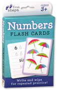 First Steps Numbers Write & Wipe Flash Cards - Write and Wipe for Repeated Practice!
