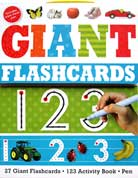 Giant Flashcards 123 (27 Wipe-Clean Flashcards, 123 Activity Book, Wipe-Clean Pen)