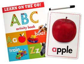 Giant Flashcards ABC (27 Wipe-Clean Flashcards, ABC Activity Book, Wipe-Clean Pen)