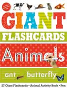 Giant Flashcards Animals (27 Wipe-Clean Flashcards, Animals Activity Book, Wipe-Clean Pen)