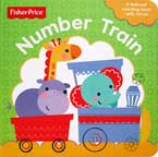 Fisher Price Number Train - A Fold-Out Counting Board Book with Mirror