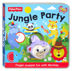 Fisher Price Jungle Party Finger Puppet Board Book (Finger Puppet Fun With Monkey)