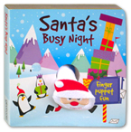 Santa's Busy Night Finger Puppet Board Book