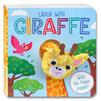 Laugh with Giraffe Board Book with Fun Finger Puppet!