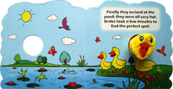 Drake the Duck - Wiggly Finger Puppet Board Book