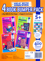 Help With Homework - 4 Book Bumper Pack 5y+ (Kindergarten) Includes Awesome Poster! and 400 Reward Stickers