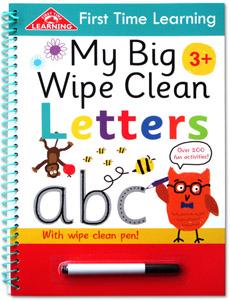 First Time Learning My Big Wipe Clean LETTERS with wipe clean pen!