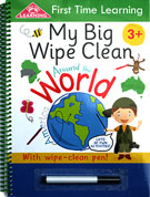 First Time Learning My Big Wipe Clean AROUND THE WORLD with wipe clean pen!