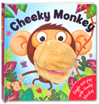 Cheeky Monkey Board Book with Hand Puppet
