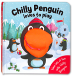 Chilly Penguin Loves to Play Board Book with Hand Puppet