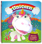 Unicorn Board Book with Hand Puppet