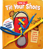 How to Tie Your Shoes includes make-it-yourself model shoe