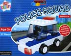 Create & Build Police Car 57pcs Building Blocks