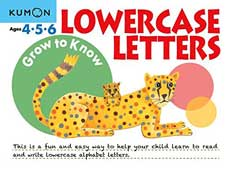 Kumon Grow to Know Lowercase Letters (Ages 4,5,6)
