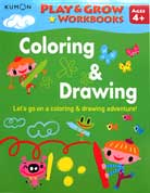 Kumon Play & Grow Workbooks COLORING & DRAWING (Ages 4+)