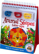 Animals Shapes Lace-ups with 3 Reusable Laces (Easy-to-use Stand-up Easel)