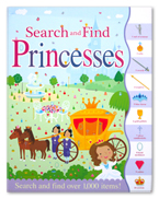 PRINCESSES Search and Find Book (Search and Find Over 1000 Items!)