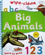 Big Animals Learn to Write Wipe Clean Activity Book