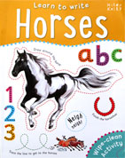 Horses Learn to Write Wipe Clean Activity Book