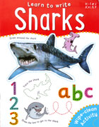 Sharks Learn to Write Wipe Clean Activity Book