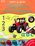 Tractors and Diggers Learn to Write Wipe Clean Activity Book