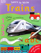 Trains Learn to Write Wipe Clean Activity Book