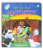 Lift the Flap NATIVITY Board Book with over 40 flaps to open (Birth of Jesus)