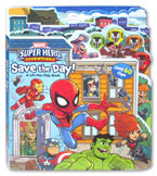 Marvel Super Hero Adventures Save the Day A Lift-the-Flap Board Book (Over 60 Flaps)