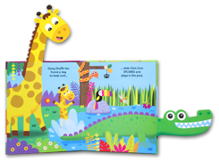 Jungle Board Book With Fold Out the Giant Animal Flaps on Every Page