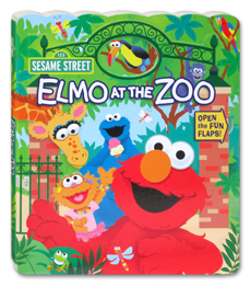 Elmo at the Zoo Board Book - Open the FUN FLAPS! (Open Door Book Series)