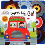 Petite Boutique Here We Go! Board Book with fun flaps