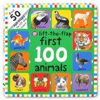 Lift-the-Flap First 100 Animals Board Book ( With 50 Fun Flaps to lift  and learn )