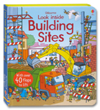 Usborne Look Inside Building Sites With Over 40 Flaps to lift