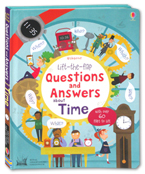 Usborne Lift-the-Flap Questions and Answers About Time Board Book With Over 60 Flaps to Lift