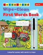 Letterland Wipe-Clean First Words Book - Colourful scenes with words to trace