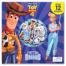 Disney Pixar Toy Story 4 Bubble Magnets Board Book Over 12 Magnets