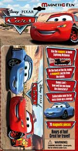 Disney Cars Magnetic Puzzle Tin Box (70 magnetic pieces)