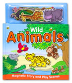 Wild Animals Magnetic Story and Play Scene Book