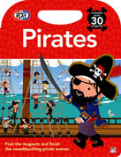 Magnetic Play Pirates Board Book Includes Over 30 Magnets - Find The Magnets and Finish The Swashbuckling Pirates Scenes.