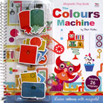 The Colours Machine Magnetic Play Book - Learn colours with magnets! (includes 26 magnets)