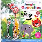 The Jungle Opposites Magnetic Play Book - Learn opposites with magnets! (includes 20 magnets)