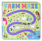 Farm Maze Adventure Board Book - Choose A Character to Race From Page to Page!