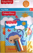Fisher Price Play Pack (Colouring Book, Colouring Pad, 4 colored pencils)