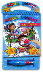Aqua Magic Letters with Brush (Includes 4 Reusable Activity Scenes! Just add water, Let it dry, and use again!)
