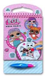 Aqua Magic L.O.L Suprise! with Brush (Includes 4 Reusable Activity Scenes! Just add water, Let it dry, and use again!)