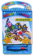 Aqua Magic Numbers with Brush (Includes 4 Reusable Activity Scenes! Just add water, Let it dry, and use again!)