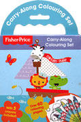 Fisher Price Carry-Along Colouring Set with 5 crayons