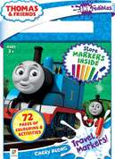 INKredibles Carry Along Pad with Travel Markers Thomas & Friends (6 markers included)